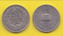 20 Filler 1908 Hungary Ungheria - Ungheria