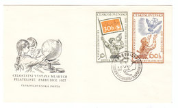 Czechoslovakia YOUTH PHILATELY PHILATELIC EXPO FDC 1957 - Philatelic Exhibitions