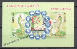 Tajikistan -  Tadjikistan 2013 Yvert BF 67 - Chinese Lunar Year Of The Snake  - Miniature Sheet - Non Perforated - MNH - Tadschikistan