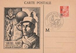 Algérie - Carte Postale Journée Du Timbre Sidi Bel Abbés Berceau De La Légion Etrangére Octobre 1945 - Algérie (1924-1962)