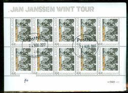 NEDERLAND * WIELRENNEN * JAN JANSEN WINT TOUR DE FRANCE  *   BLOK BLOC * BLOCK * GEBRUIKT *  POSTFRIS GESTEMPELD * (70) - Gebruikt