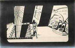 - Themes Divers -ref U500-dessin A La Plume -support Souple Format Carte Postale -akademi De Cians  - - Espace