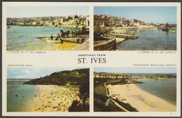 Multiview - Greetings From St Ives, Cornwall, C.1960 - Jarrold Postcard - St.Ives