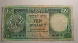 1987 - Hong Kong - 10 DOLLARS - 1st January 1987 - NF432822 - Hongkong