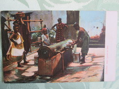 Zanzibar ; Water Carriers At Tank  Dos 1900 - Tanzanie