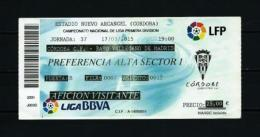 Córdoba / Rayo Vallecano (año 2015) Entrada - Tickets - Entradas