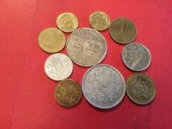 Lot De 10 Pièces Voir Le Scan - Monnaies & Billets
