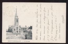 BELGIO - SAINT GHISLAIN - 1900 - L'EGLISE - VIAGGIATA X TORINO - Saint-Ghislain