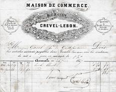 1847 - AUMALE (76)  Rue Royale - Dépôt D'HUILES Et GRAINES  - Maison CREVEL-LEBON - Documentos Históricos