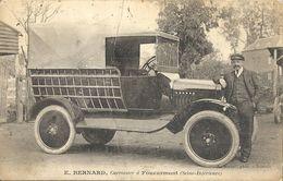 CPA Foucarmont Carte Publicitaire Carosserie Automobile E. Bernard - Véhicule Très Ancien - Other Municipalities