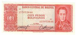 Bolivia 100 Bolivianos 1962  UNC  .C. - Bolivia