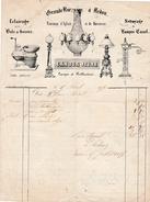 1856 - REDON (35) - TRAVAUX D'ÉGLISES - ECLAIRAGE Pour BALS & SOIRÉES - Maison CAHOUR Jeune - Documents Historiques
