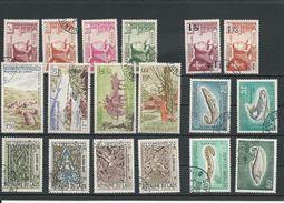 LAOS Scott 52-55, 112-113, 141-144, 148-151, C35-C38 Yvert 55-58,117-118, 149-152, 156-159, PA35-PA38 (18) O  Cote 9,80$ - Laos