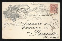 VERONA - 1916  - CARTOLINA COMMERCIALE  - DITTA GENNARI - BILANCE PESI E MISURE - Pubblicitari
