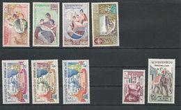 LAOS Scott 48-51, B4-B5, 89-91 Yvert 51-54, 69-70, 94-96 (9) *  Cote 6,60$ 1958-64 - Laos