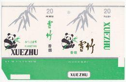 Panda - Giant Panda, XUEZHU Cigarette Box, Soft, White & Kentucky-green, Mianyang Cigarette Factory, Sichuan, China - Empty Cigarettes Boxes