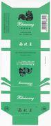 Panda - Giant Panda, XIBEIWANG Cigarette Box, Hard, Grass-green, Lichuan Cigarette Factory, Hubei, China - Empty Cigarettes Boxes