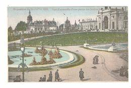 Brussel / Bruxelles - Exposition De Bruxelles 1910 - Vue D'ensemble D'une Partie Des Jardins De La Ville De Bruxelles - Expositions Universelles