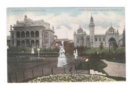 Brussel / Bruxelles - Exposition De Bruxelles 1910 - Jardin Français Et Quelques Pavillons - Expositions Universelles