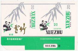 Panda - Giant Panda, XUEZHU Cigarette Box, Soft, White & Light-green, Mianyang Cigarette Factory, Sichuan, China - Empty Cigarettes Boxes