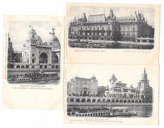 3 Publicités ABSINTHE JOANNE Et PREMIER Sur BATEAUX MOUCHE De L'EXPOSITION UNIVERSELLE 1900 à Paris - Advertising