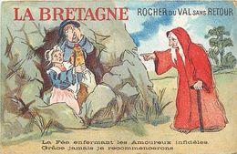 - Themes Div -ref U460- Illustrateurs - Illustrateur - La Bretagne - Rocher Du Val Sans Retour -fées - Fée - - Folklore