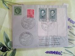 Lettre Du16/6/ 1944 Cachet Provisoire Expo Philatelique Chateau De Malmaison - Temporary Postmarks