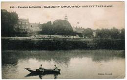 CPA Pension De Famille, Clément Drouard, Armentières 77 (pk35878) - France