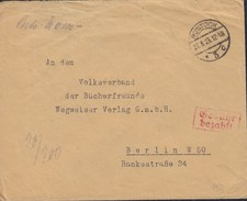 DR INFLA Gebühr Bezahlt Im Rechteck Zweizeilig, Auf Brief Mit Stempel: Rostock 27.8..1923 - Deutschland