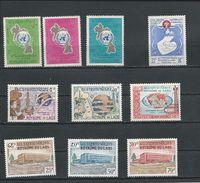 LAOS Scott 109-111, 114, 115-117, 145-147 Yvert 114-116, 118, 120-122, 153-155 (10) ** Cote 6,60$ 1963-67 - Laos