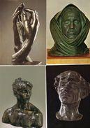 Lot De 8 Cartes - CAMILLE CLAUDEL Et AUGUSTE RODIN - Sculptures - 2 Scan. - Paintings