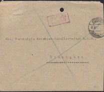 DR  Gebühr Bezahlt Im Rechteck Zweizeilig, Auf Faltrief Der Chemiker-Zeitung Mit Stempel: Cöthen 31.8.1936 - Briefe U. Dokumente