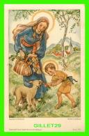 IMAGES RELIGIEUSES - JÉSUS AVEC MARIE DONNE DES CAROTTES À UN MOUTON - KUNST-ADELT SERIE P.E. - - Andachtsbilder