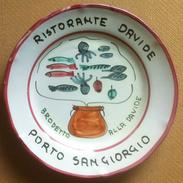 Piatto Buon Ricordo - Porto San Giorgio - Davide - Brodetto Alla Davide - 8E - Oggetti 'Ricordo Di'
