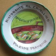 Piatto Buon Ricordo - Polesine Parmense - Cavallino - Anguilla Dorata (Pezzi) 4E - Oggetti 'Ricordo Di'