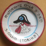 Piatto Buon Ricordo - San Gillio - Rosa D'Oro - Pollo Alla Marengo (2°) - O85 - Oggetti 'Ricordo Di'