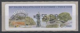 France, ATM Label, Philatelic Exhibition Paris, 2008, 0,55€, MNH VF - 1999-2009 Illustrated Franking Labels