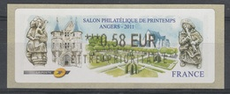 France, ATM Label, Philatelic Exhibition Angers, 2011, 0,58€, MNH VF - 2010-... Illustrated Franking Labels