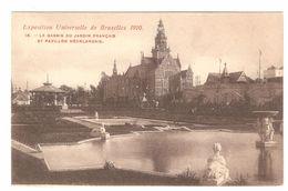 Brussel - Bruxelles - Exposition Universelle De Bruxelles 1910 - Le Bassin Du Jardin Français Et Pavillon Néerlandais - Expositions Universelles
