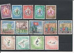 LAOS Scott 163-167, 168-170, C52-C53, 178-181 Yvert 177-181, 174-176, PA52-PA43,189-192 (14) O Cote 8,50$ - Laos