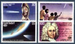 VANUATU, 1986, COMET HALLEY PASSAGE, YV#743-46, MNH - Space