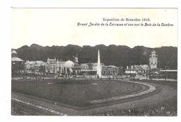 Brussel - Exposition De Bruxelles 1910 - Grand Jardin De La Terrasse Et Vue Sur Le Bois De La Cambre - Ed Chocolat Hardy - Expositions Universelles