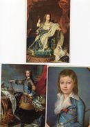 Lot De 6 Cartes - Rois De FRANCE - LOUIS XV , XVI , XVII - 2 Scan. - Postcards