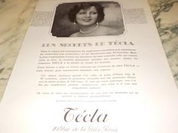 ANCIENNE PUBLICITE LES PERLES LE SECRET DE  TECLA 1927 - Bijoux & Horlogerie