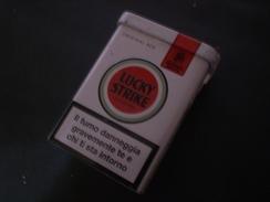 BOX CIGARETTE SIGARETTE LUCKY STRIKE DA COLLEZIONE EDIZIONE LIMITATA RARO !! METALLICO - Porta Sigarette (vuoti)