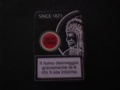 BOX CIGARETTE SIGARETTE LUCKY STRIKE DA COLLEZIONE EDIZIONE LIMITATA RARO !! METALLICO COPERTURA GOMMATA - Etuis à Cigarettes Vides