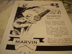 ANCIENNE PUBLICITE MONTRE MARVIN - Autres