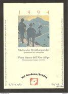 ITALIA - Etichetta Vino SUDTIROLER WEISSBURGUNDER Doc 1994 Cantine Di CORNAIANO Bianco TRENTINO-ALTO ADIGE - Alpinisti - Weisswein