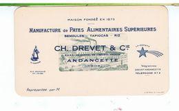 CPA-PETITE CARTE PUB DE REPRÉSENTANT-ETABLISSEMENT CH.DREVET & Cie-PÂTES ALIMENTAIRES-ANDANCETTE-80 Mm X 140 Mm-4 - Publicité