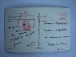 EMA 70 EME ANNIVERSAIRE DE LA TOUR EIFFEL 1959 - CP PARIS NOTRE DAME ET LE PONT DE L'ARCHEVÊCHÉ - Marcofilie (Brieven)